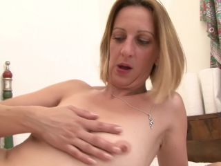 Porn Blonde french cougar takes big black cock up her ass