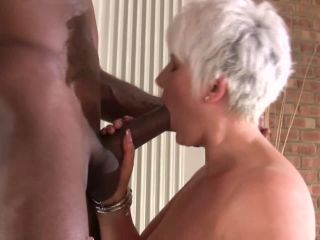 Hung black stud couldn't resist this Granny offer