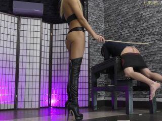 Online Fetish video Caning – CRUEL MISTRESSES – Slave breaks the canes – Mistress Ariel