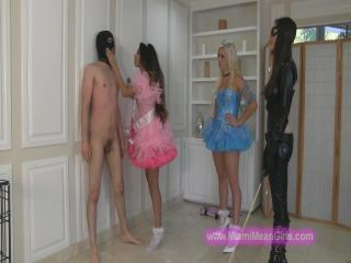 Femdom – THE MEAN GIRLS – Halloween Beat-Down! – Just The Ballbusting – Empress Jennifer and Princess Perfection