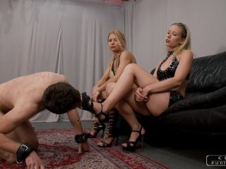 CRUEL PUNISHMENTS  SEVERE FEMDOM  Screaming louder and louder part3. Starring Mistress Zita and Lady Anette [Whipping, Whipped, Whip]