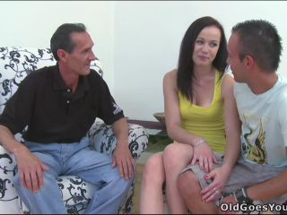 Young beauty given to older man that she sucks and he fucks her sweet young pussy