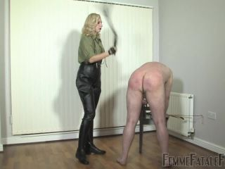 Flogging – FemmeFataleFilms – Military Discipline. Part 2 – Mistress Akella