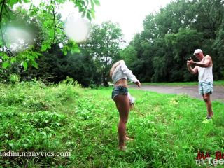 ManyVids  MiaBandini  Unexpected Rain In a Public Park Pushed Us to Extreme Acrobatic Assfuck  Porn Videos,POV,Public  Release (September 4, 2018)