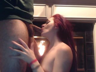 ManyVids presents Jessie Wolfe — Sloppy BJ by the fire