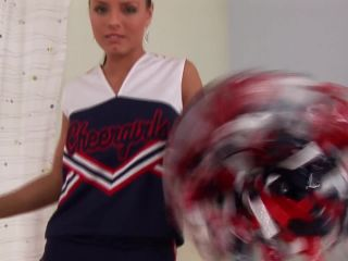 Hot Cheerleader Striptease for You! Video with Kari  01.05.2010