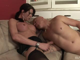 Tranny Babysitter Morgan Bailey Gets Fucked And Hosed Down With Milky ...