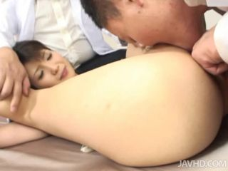 Two Guys Make Good Use Of Amai Kaori's Two Holes