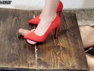 New red high heels ballting preview