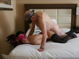 10714 Trophy wife lets grandpa cum in her mouth