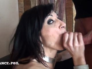 Linda India: Small titted cougar brunette gets double vaginal plugged in a gangbang  on cumshot ironing fetish