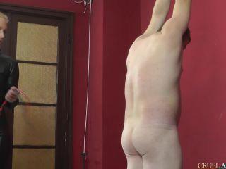 CRUEL MISTRESSES — Lady Ann — Whipping in catsuit   lady ann   femdom porn mature femdom spanking