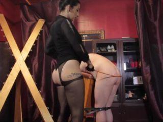Humiliation – Cybill Troy FemDom Anti-Sex League – Cane Shredded Slave Ass