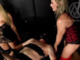 Mistress Nikki Whiplash - WL1481 - 2 Dominas Use Fucking Machine On Their Slave (1080 HD) - female supremacy on fetish porn