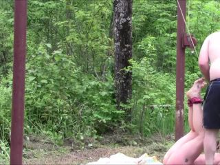 Have you ever seen a girl chained up on a hunting cabin deer pole