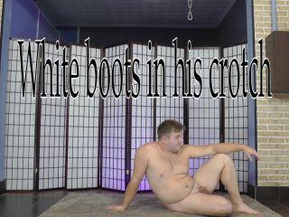 Female Domination – CRUEL MISTRESSES – White boots in his crotch – Mistress Amanda