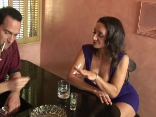 Cheating big tit milf has sex with big tit bartender