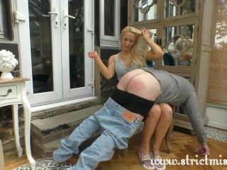 Step sister Tamara punishes her lazy brother
