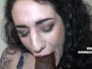 Arabelle Raphael - Sloppy Interracial Blowjob By Arabelle Raphael