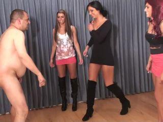 Bratprincess – Christina, Crystal, Mia – Ballbust and Slap Pathetic Man for Fun (Complete)