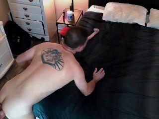 Injoybacon - Husband gets passionate pegging intimate sexy sensual strapon suck [FullHD 1080P] - Screenshot 2