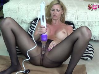 black pantyhose hitachi squirt