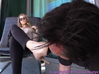 Femdom – Brat Princess 2 – Amber – Loser Licks Filthy Shoes to Earn Stinky Foot Worship