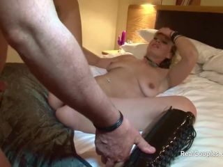 Hands free hot into and over her sy