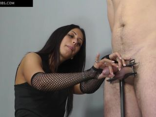 Cumshot – HANDJOBS MISTRESS – Aroused and tied – Mistress Sophie