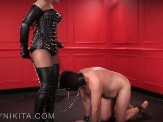 Shoe & Boot Worship – Mistress Nikita FemDom Videos – Obey Nikita – Stroke It With My Spit