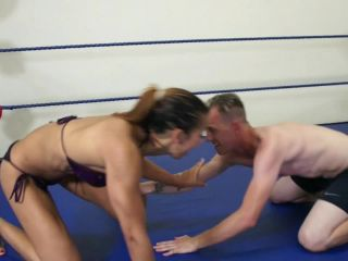 "The dirty wrestling pit! - Sophia Fiore vs. Chad in ""Amazon Forced Milking!"""