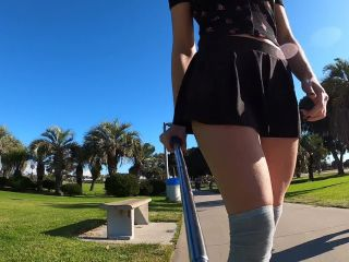 Shy Goth Exhibitionist Learning To Longboard Video